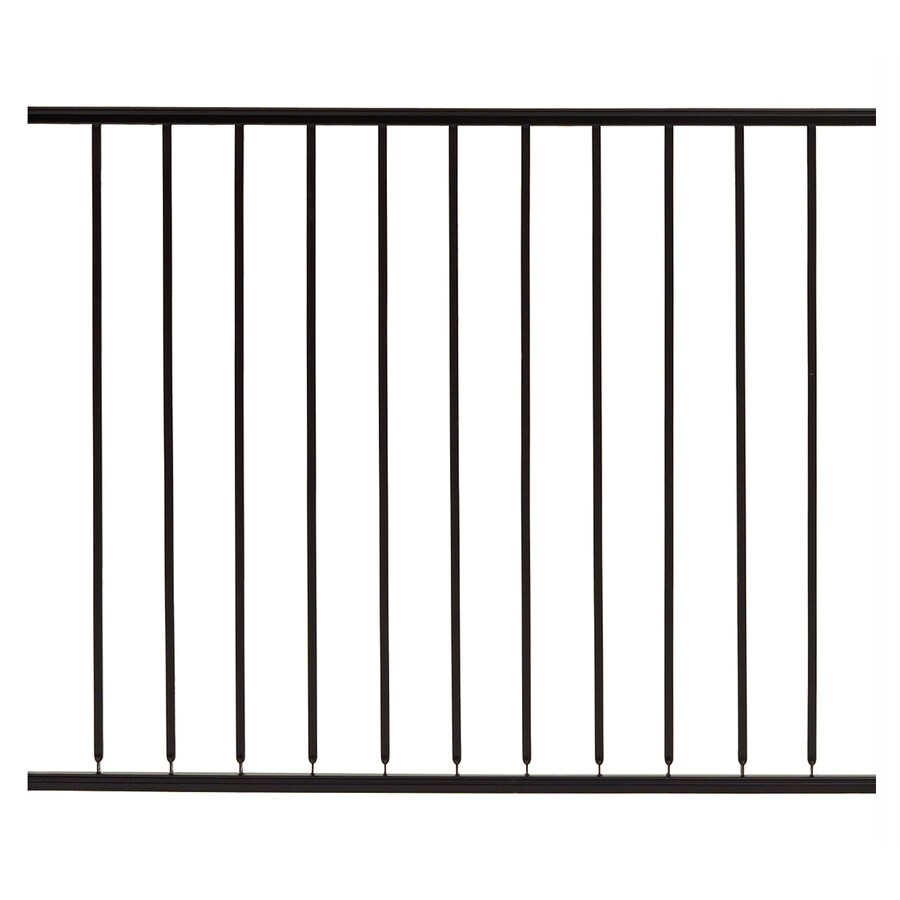 Gilpin (Common: 3.5-ft x 4-ft; Actual: 3.1666-ft x 4-ft) Embassy Black Steel Decorative Fence Panel