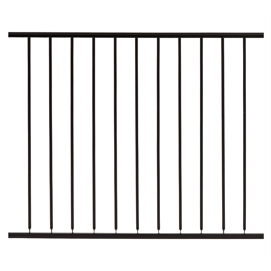 Gilpin (Common: 5-ft x 4-ft; Actual: 4.6666-ft x 4-ft) Embassy Black Steel Decorative Fence Panel