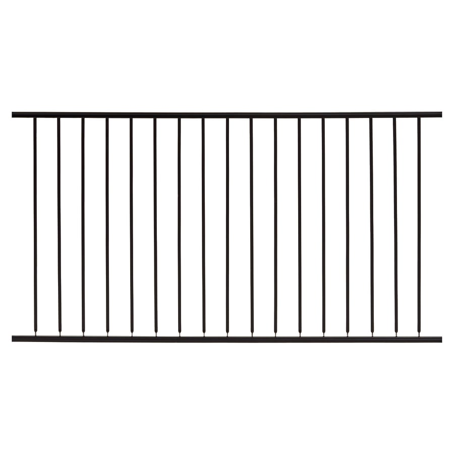Gilpin (Actual: 4.66-ft x 6-ft) Embassy Black Steel Decorative Fence Panel