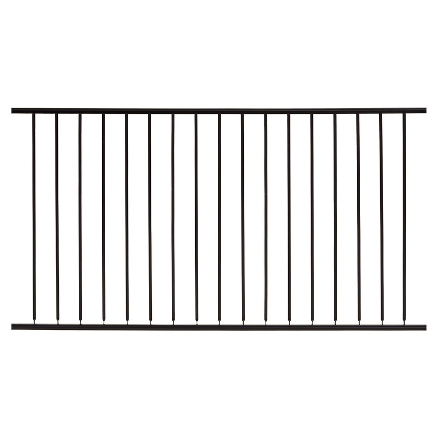Gilpin (Common: 5-ft x 6-ft; Actual: 4.6666-ft x 6-ft) Embassy Black Steel Decorative Fence Panel