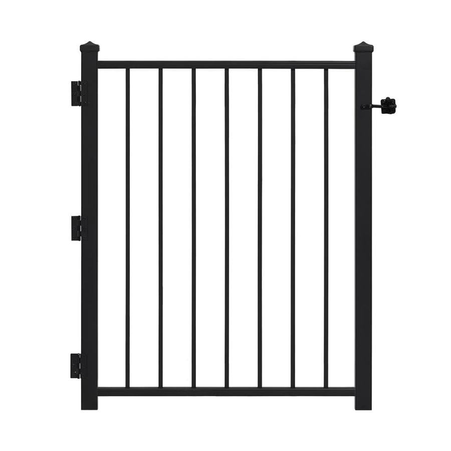 Gilpin (Common: 5-ft x 3-ft; Actual: 4.67-ft x 2.92-ft) Black Steel Decorative Fence Gate