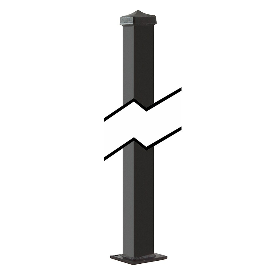 Gilpin (Common: 1-1/2-in x 1-1/2-in x 3-1/2-ft; Actual: 1.5-in x 1.5-in x 3.58-ft) Black Steel Universal Post