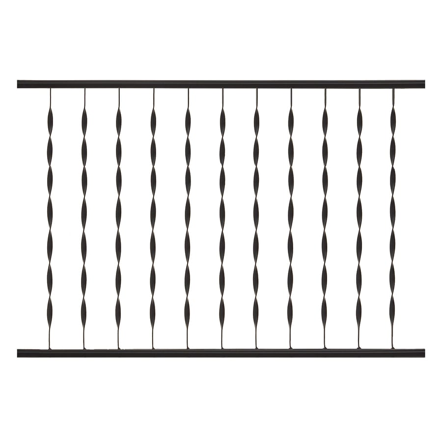 Gilpin Patterson 32-in x 4-ft Black Painted Wrought Iron Handrail