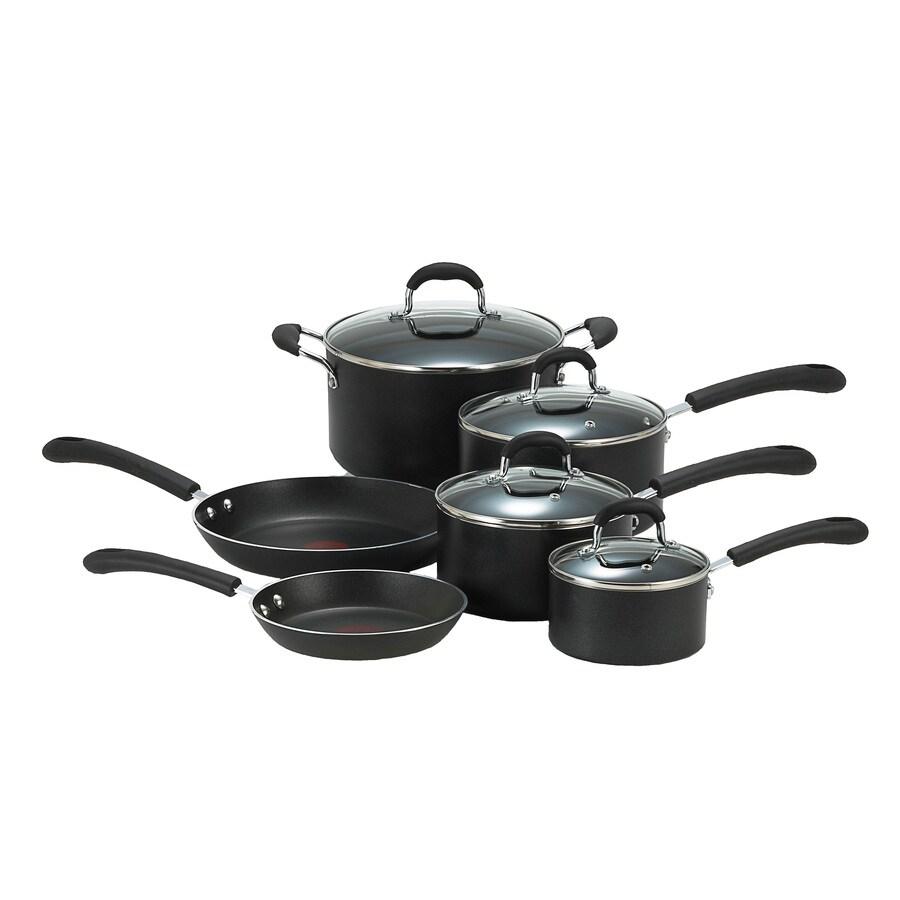 T-fal 10-Piece Professional Aluminum Cookware Set with Lids