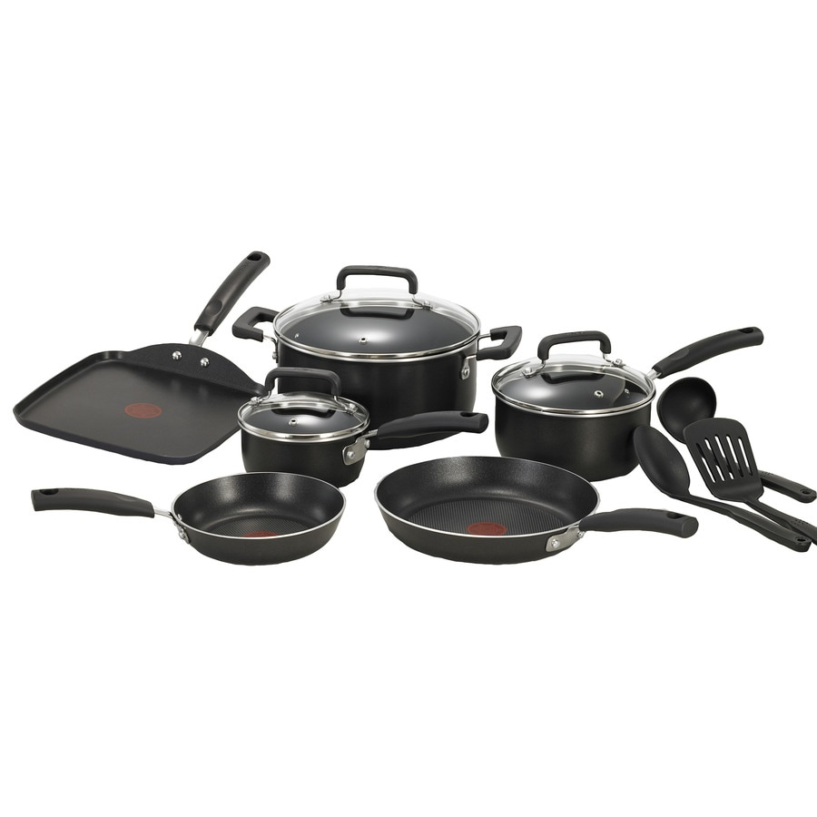 T-fal 12-Piece Signature 11-in Aluminum Cookware Set with Lids