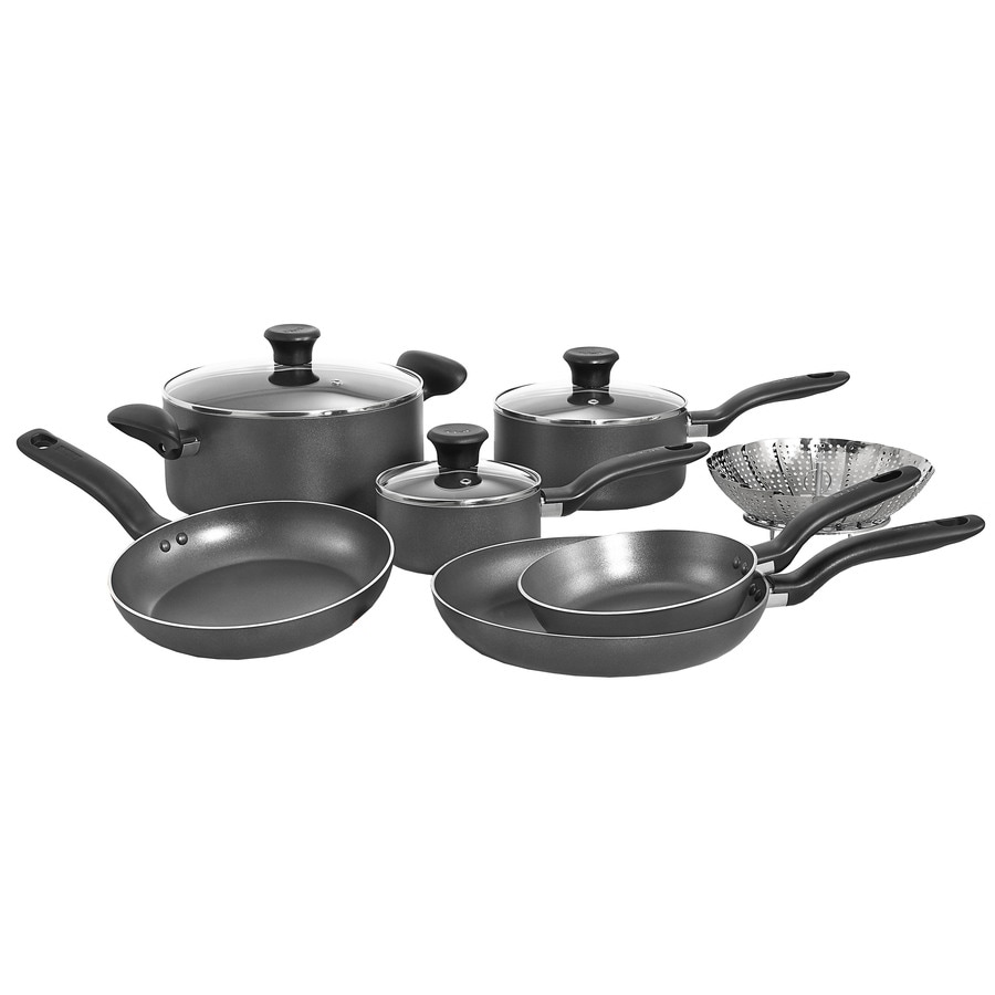 T-fal 10-Piece Initiatives Aluminum Cookware Set with Lids