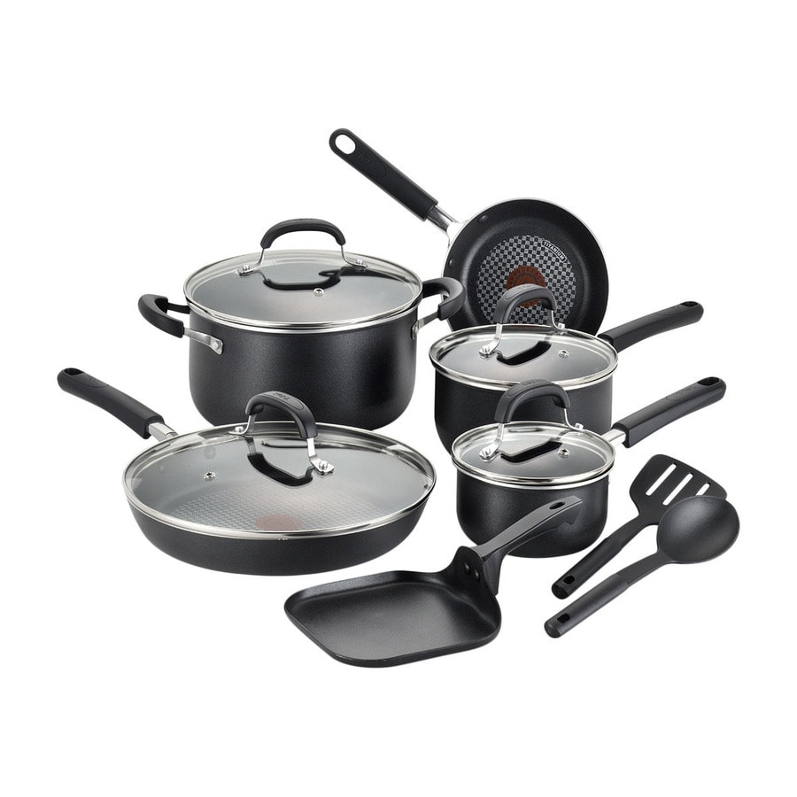 T-fal 12-Piece Opti Cook 13.8-in Aluminum Cookware Set with Lid