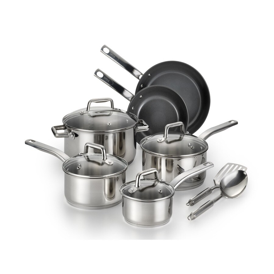 T-fal 12-Piece Precision 14.2-in Ceramic Cookware Set with Lid