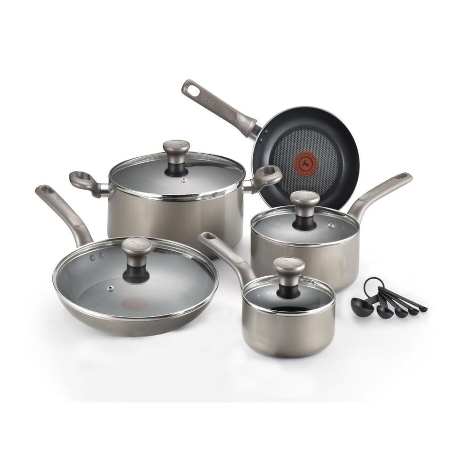 T-fal 14-Piece Excite 12.8-in Aluminum Cookware Set with Lid