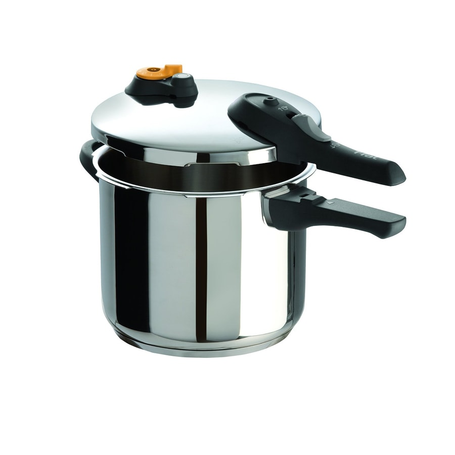 shop t fal 6 3 quart stainless steel stove top pressure cooker at. Black Bedroom Furniture Sets. Home Design Ideas