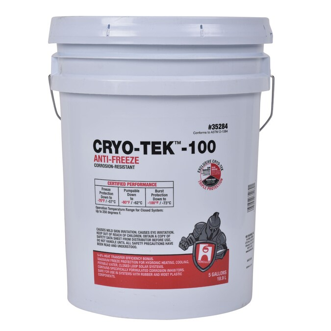 Hercules 5 Gal Cryo Tek 100 Anti Freeze In The Hydronic Baseboard Heater Accessories Department At Lowes Com