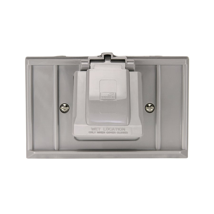 Eaton Non-Metallic Gray 1-Outlet Weatherproof Electrical Outlet Cover