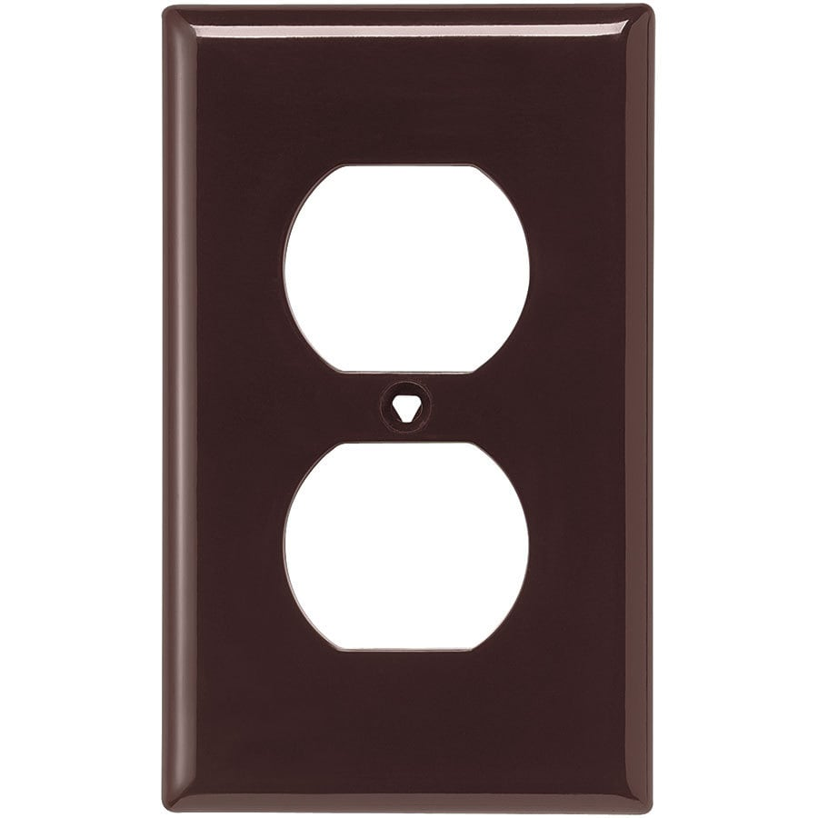 Eaton 1-Gang Brown Single Duplex Wall Plate