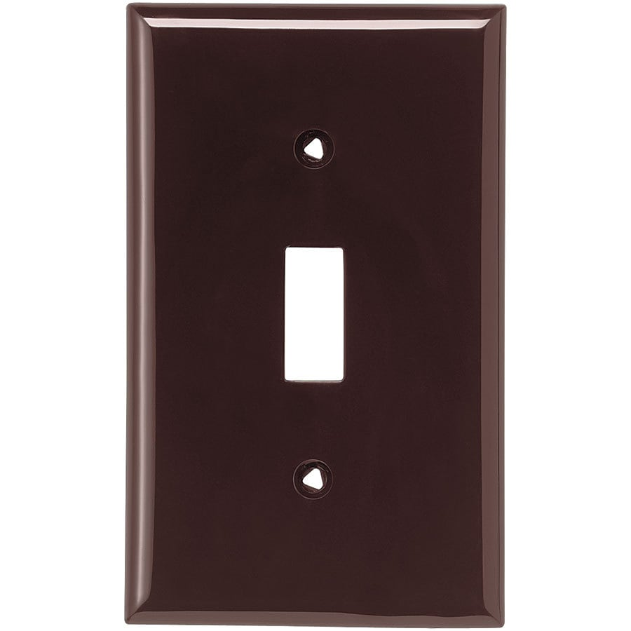 Eaton 1-Gang Brown Single Toggle Wall Plate