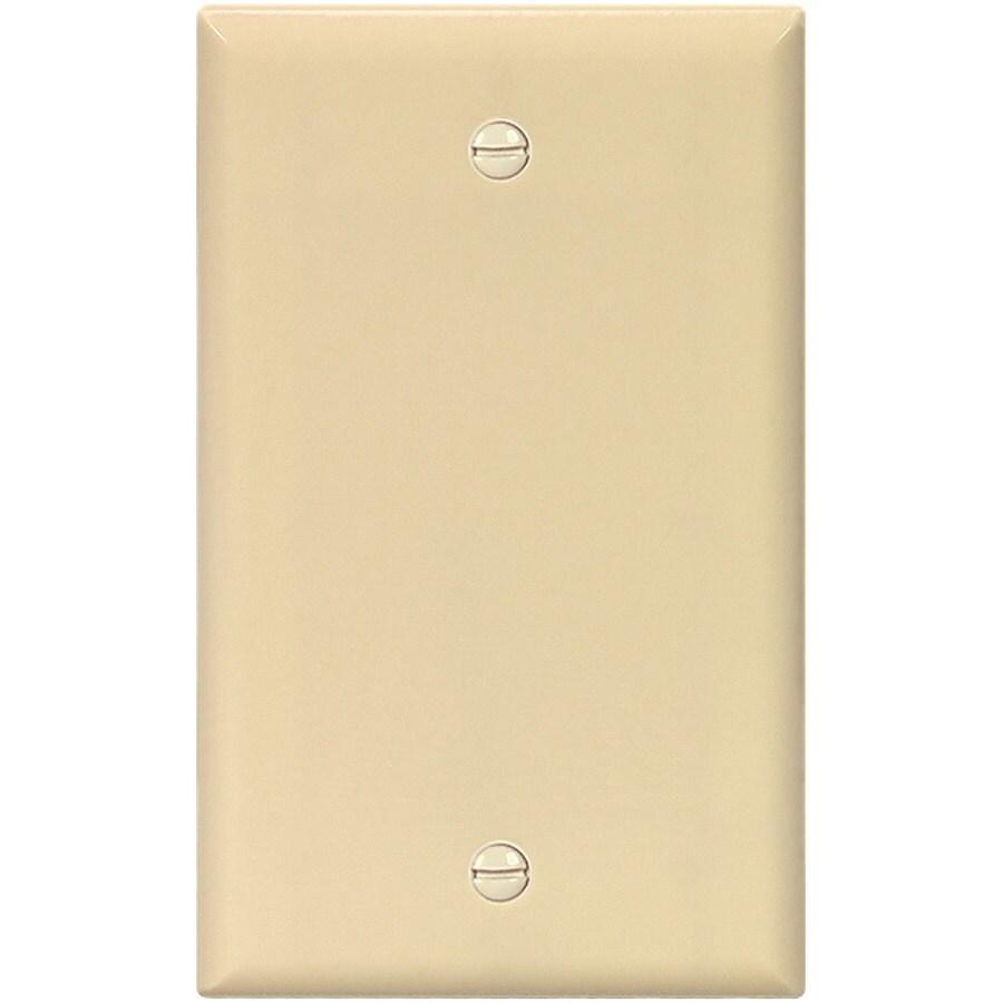 Eaton 1-Gang Ivory Single Blank Wall Plate