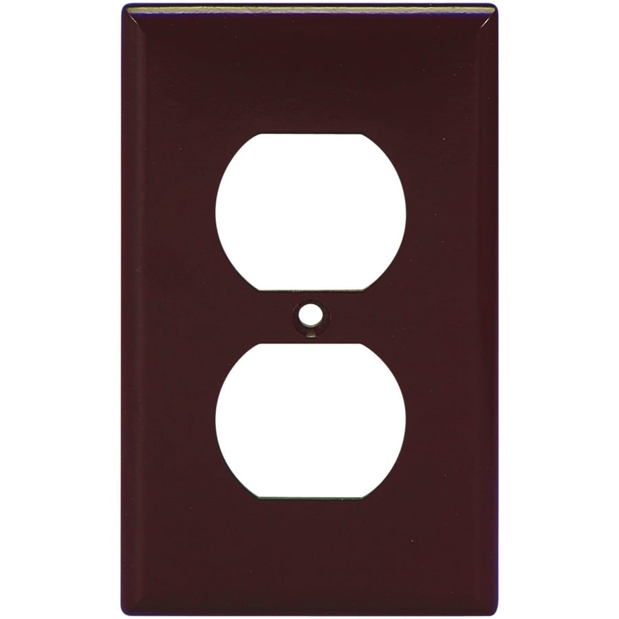 Eaton 1-Gang Brown Round Wall Plate