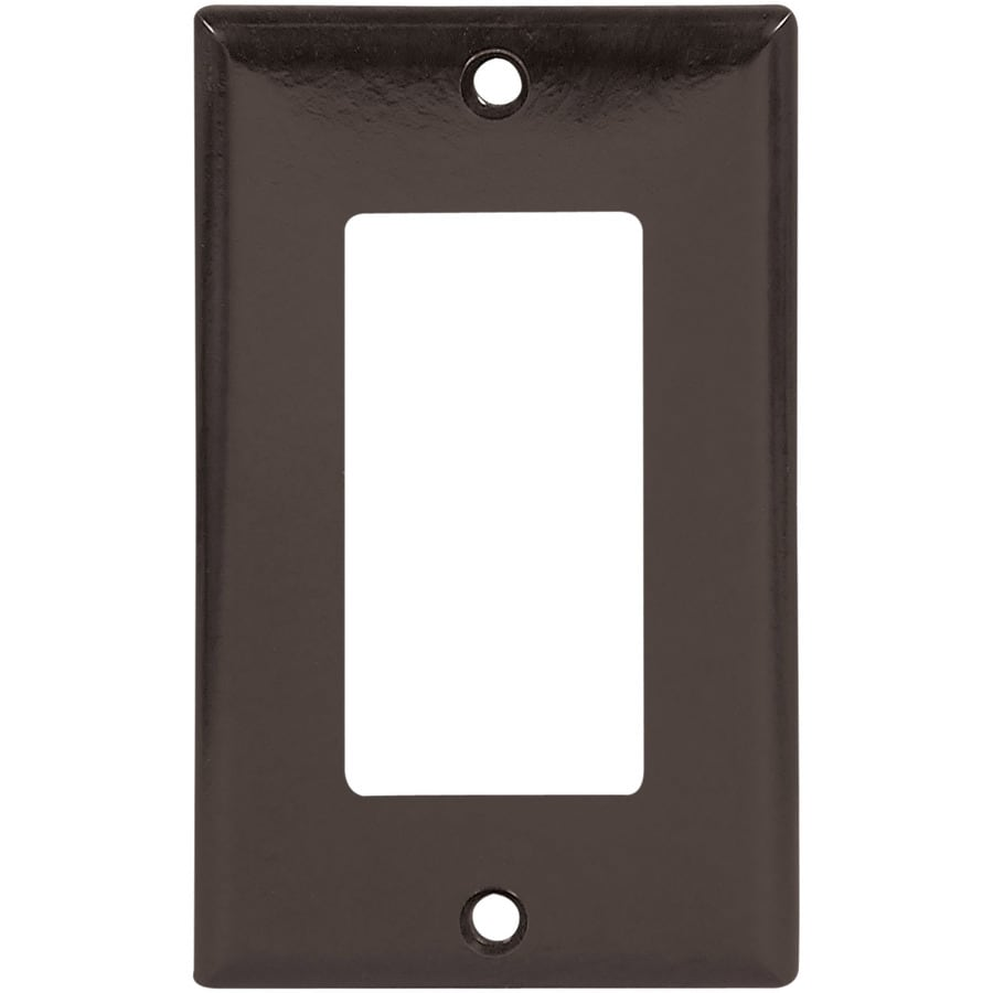 Eaton 1-Gang Brown Decorator Wall Plate