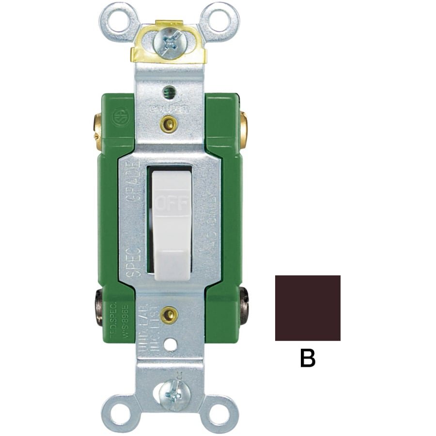 eaton 30-amp double pole brown toggle industrial light switch