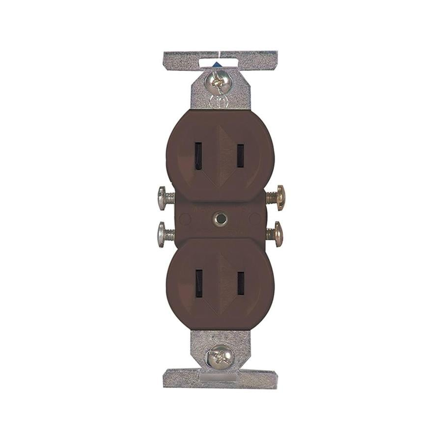 Eaton 15-Amp 125-Volt Brown Duplex Electrical Outlet