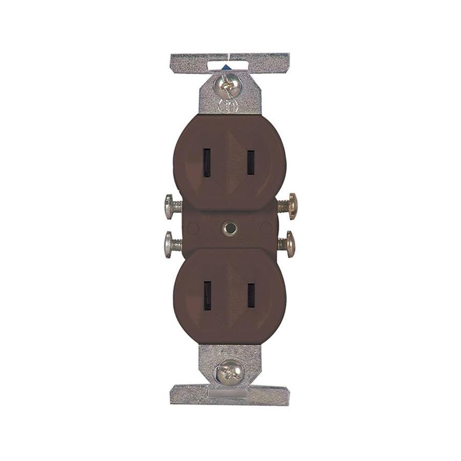 Eaton 15-Amp 125-Volt Brown Duplex