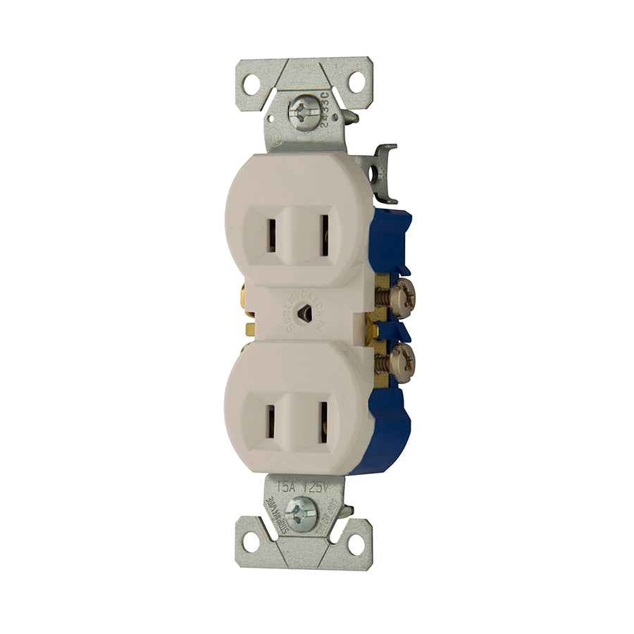 Outdoor Kitchen Electrical Outlet For Home Design Great: Eaton White 15-Amp Duplex Outlet Residential At Lowes.com