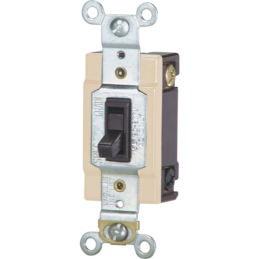 Shop Eaton 15 Amp 4 Way Brown Toggle Light Switch At Connecting