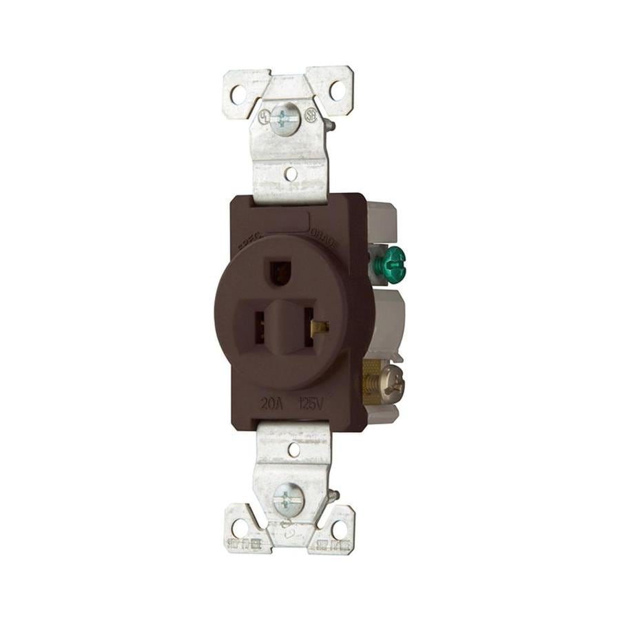 Eaton 20-Amp 125-Volt Brown Electrical Outlet