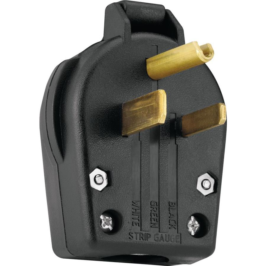 Eaton 50-Amp 125-Volt Black 3-Wire Grounding Connector