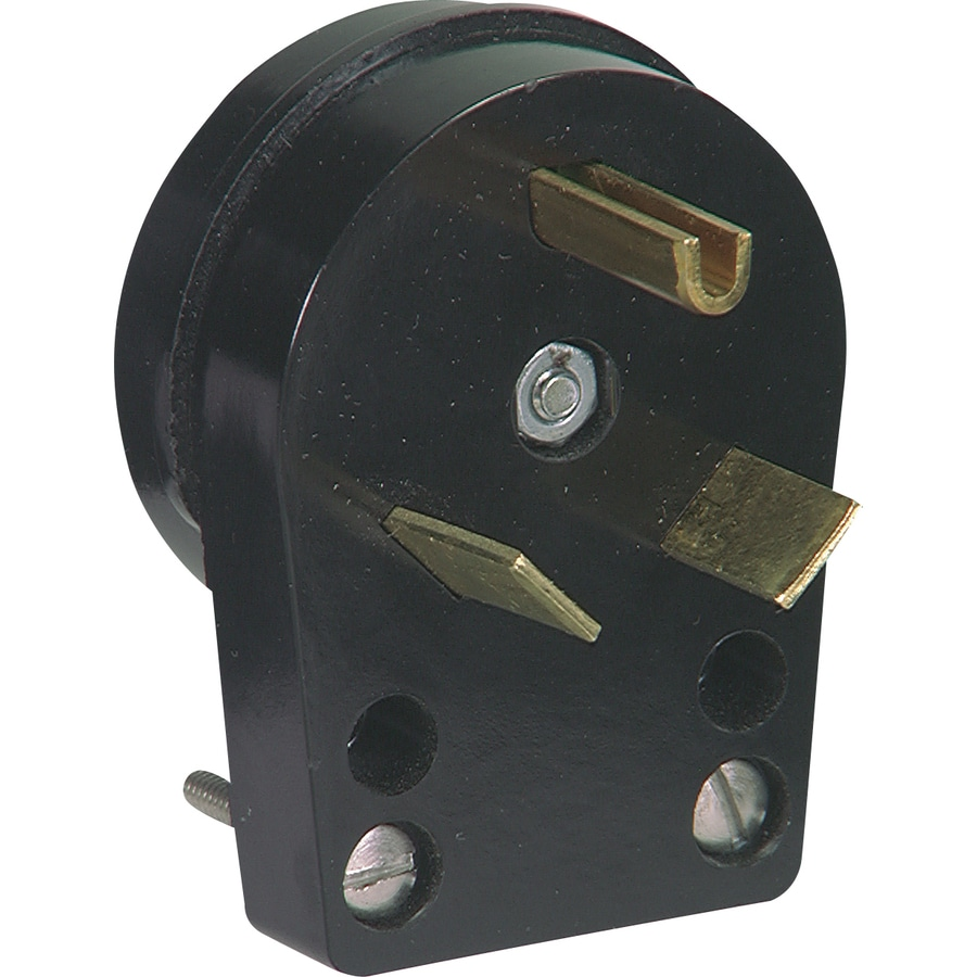 Cooper Wiring Devices 30-Amp 125-Volt Black 3-Wire Plug
