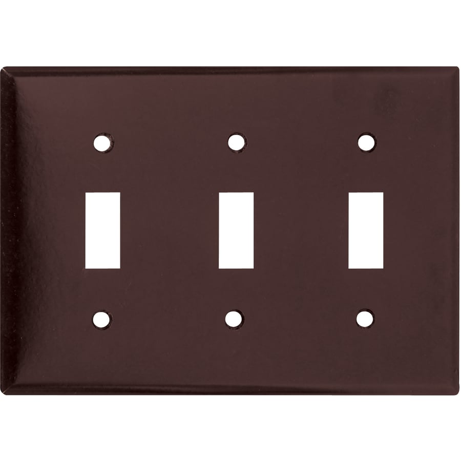 Shop Cooper Wiring Devices 3-Gang Brown Toggle Wall Plate at Lowes.com