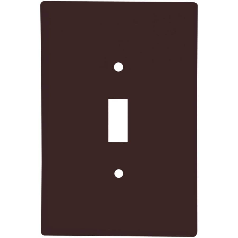 Eaton 1-Gang Brown Toggle Wall Plate