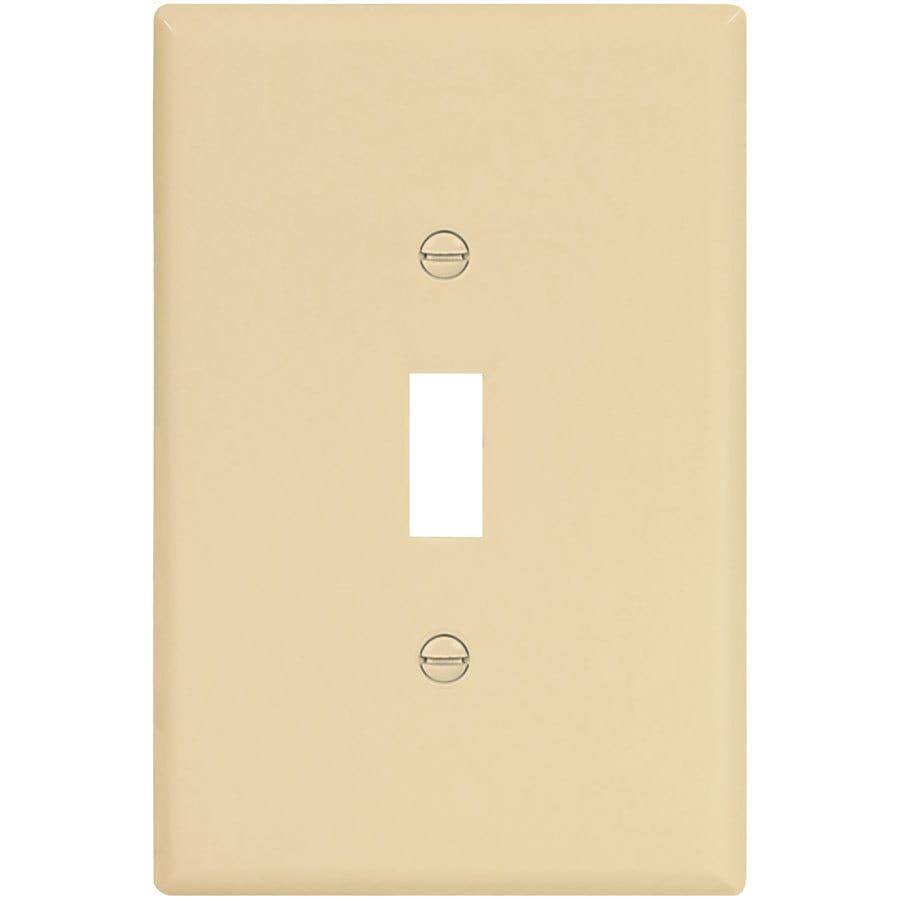 Eaton 1-Gang Ivory Single Toggle Wall Plate