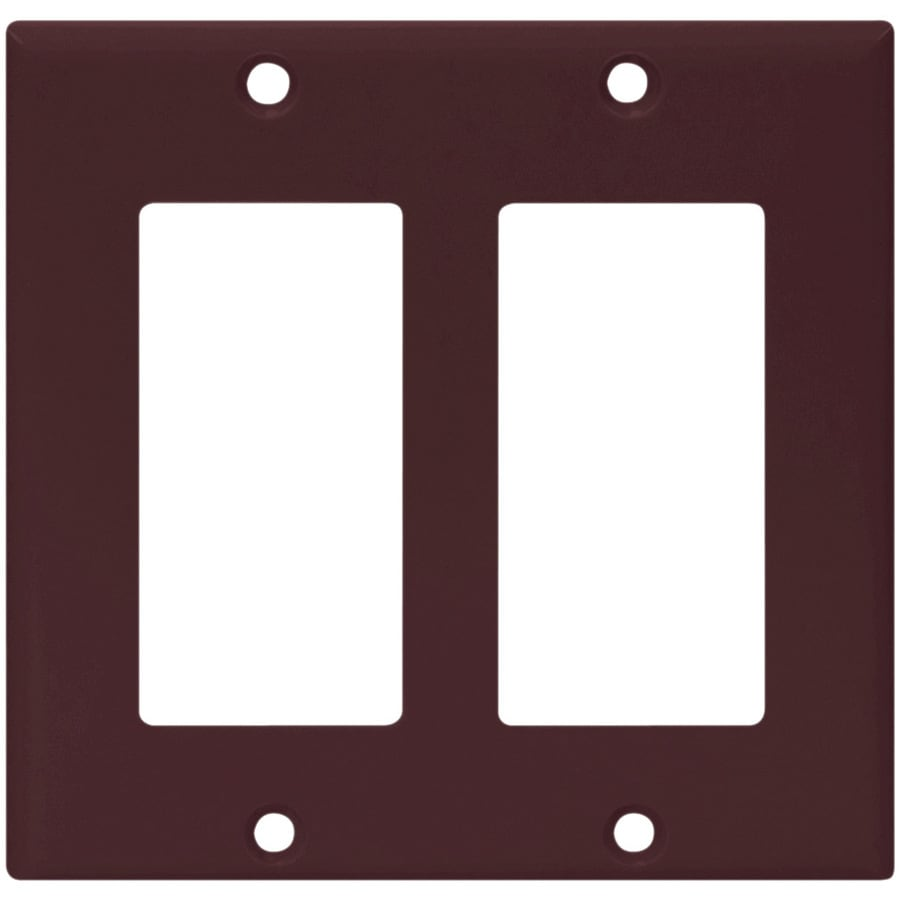 Eaton 2-Gang Brown Decorator Wall Plate