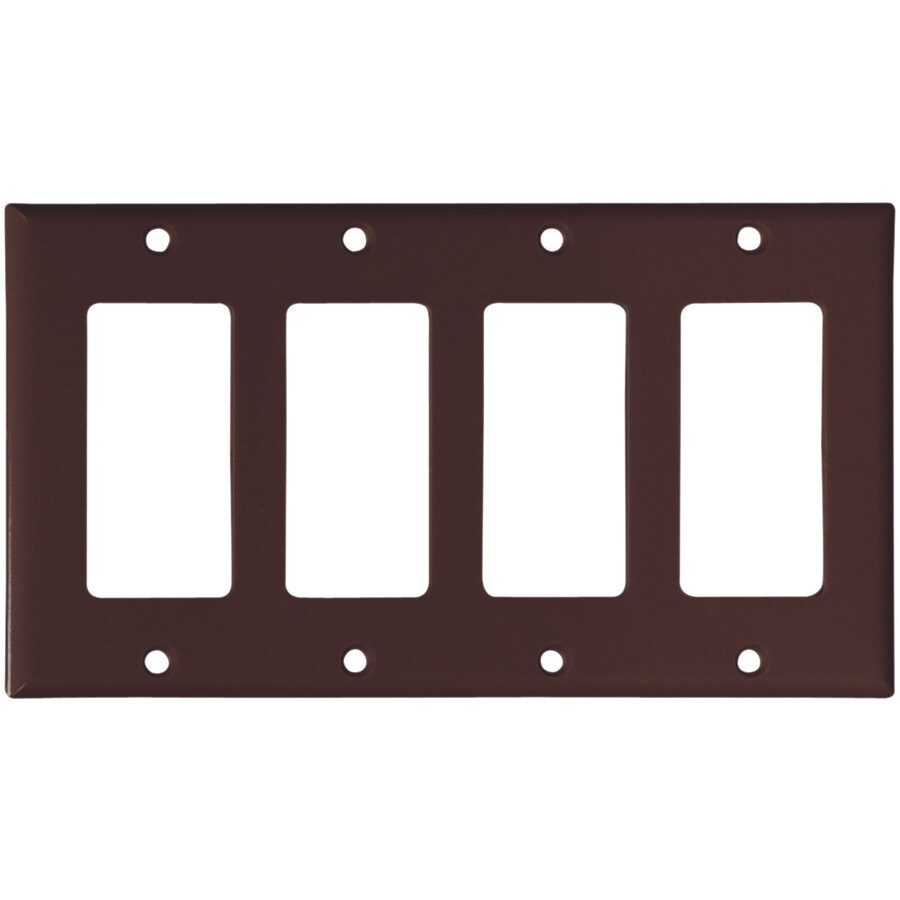 Eaton 4-Gang Brown Decorator Wall Plate
