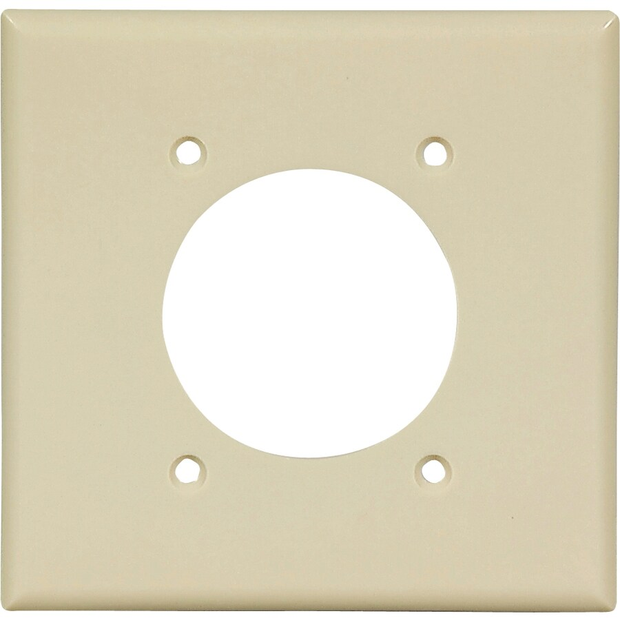 Cooper Wiring Devices 2-Gang Ivory Single Round Wall Plate