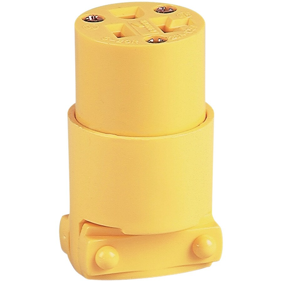 Eaton 20-Amp 125-Volt Yellow 3-Wire Grounding Connector