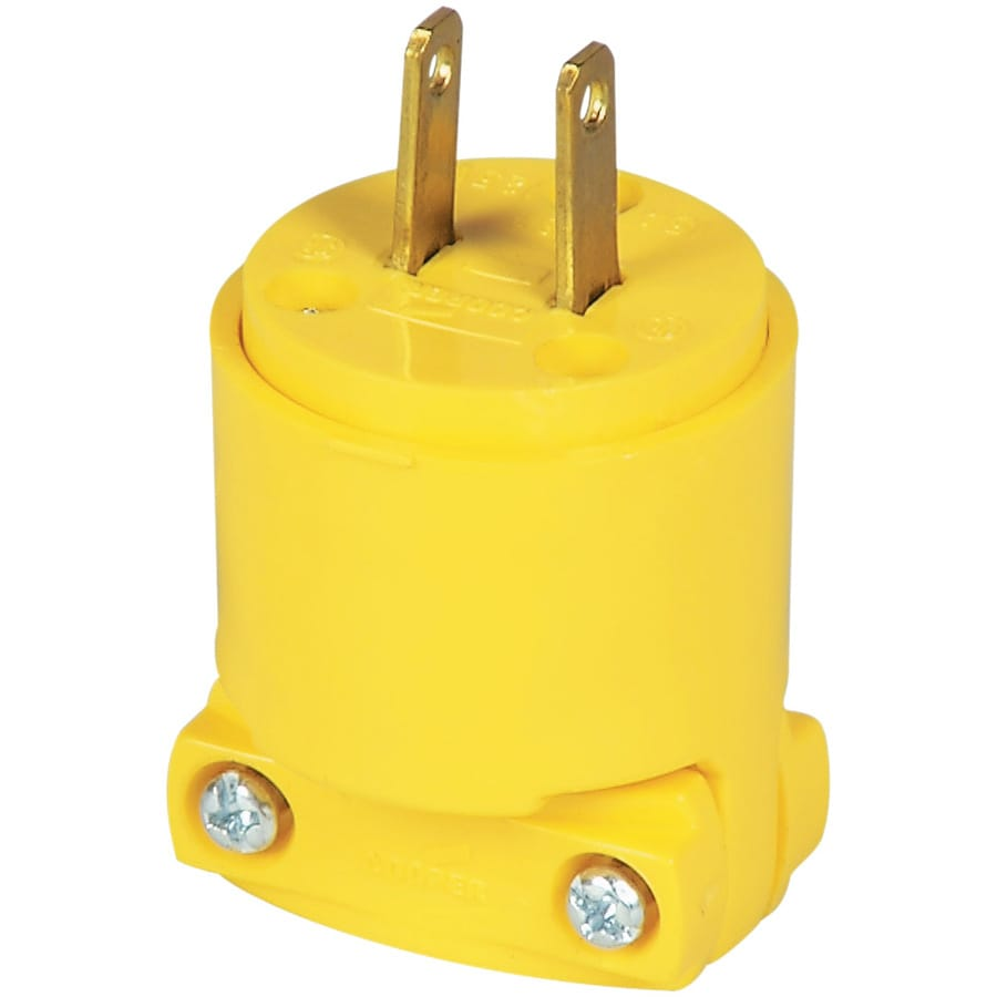 Eaton 15-Amp 125-Volt Yellow 2-Wire Plug