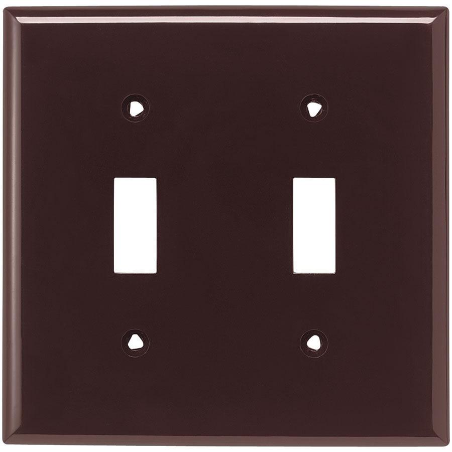 Eaton 2-Gang Brown Double Toggle Wall Plate