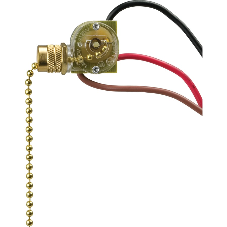 Shop Cooper Wiring Devices Single Pole 3 Way Brass Dipped Light Switch