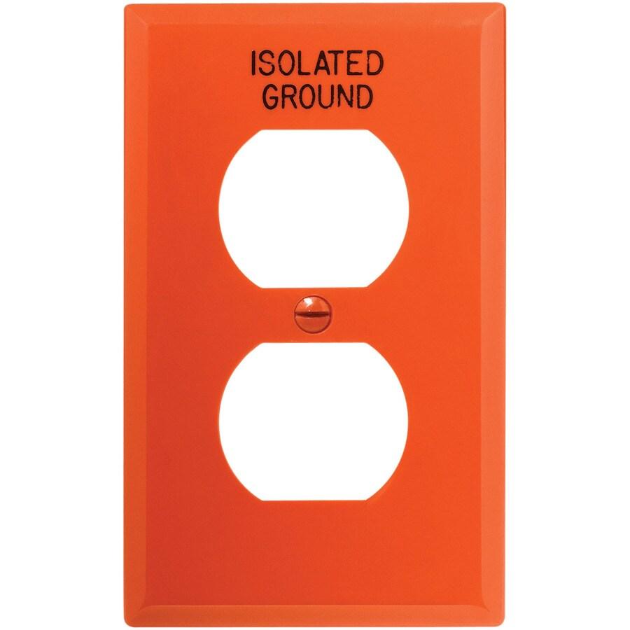 Eaton 1-Gang Orange Round Wall Plate