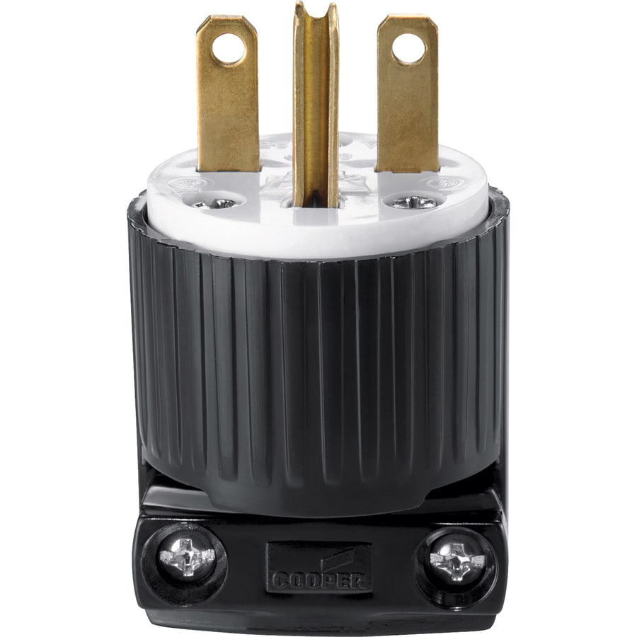 Shop Cooper Wiring Devices 15-Amp 250-Volt Black 3-Wire Grounding ...