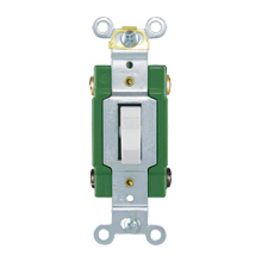 eaton 30 amp double pole white toggle light switch at lowes comeaton 30 amp double pole white toggle light switch