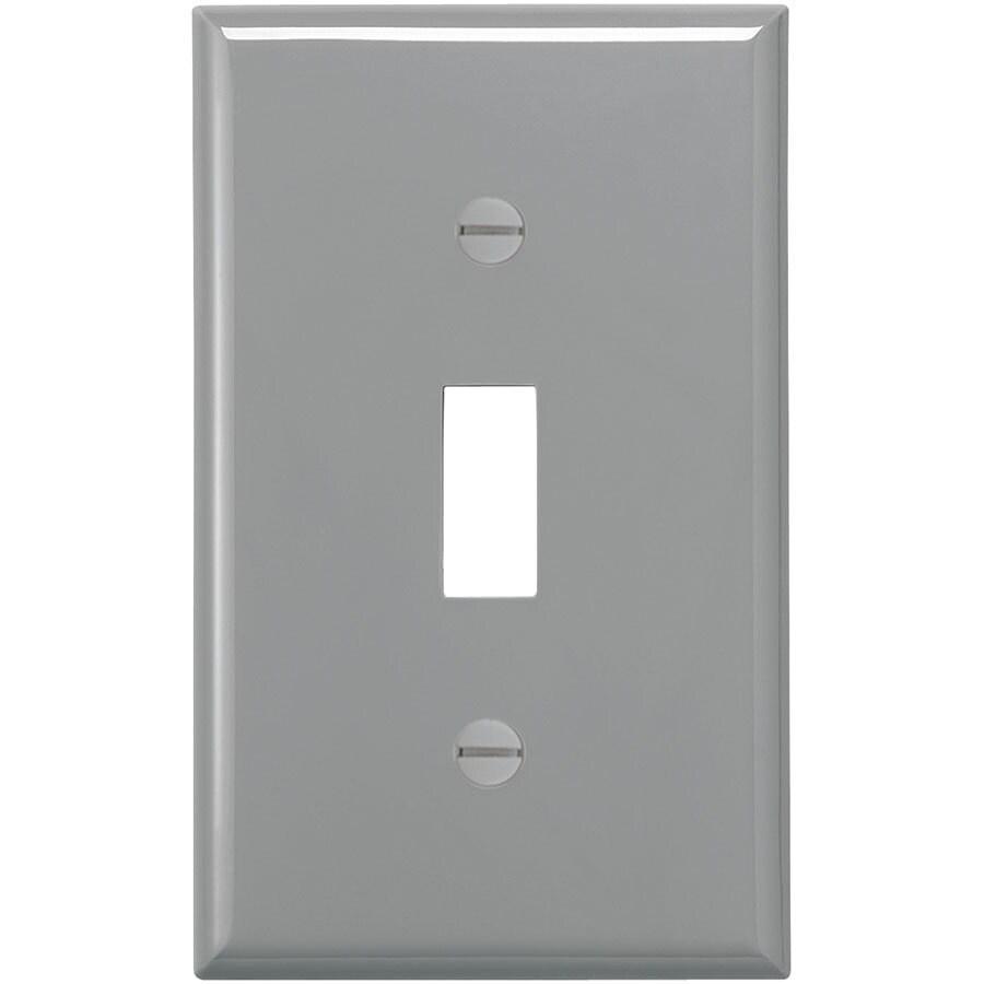Eaton 1-Gang Gray Single Toggle Wall Plate