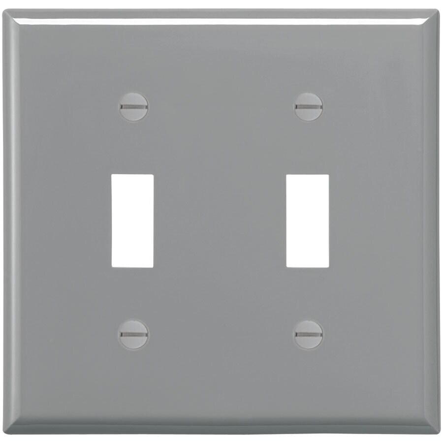 Eaton 2-Gang Gray Double Toggle Wall Plate