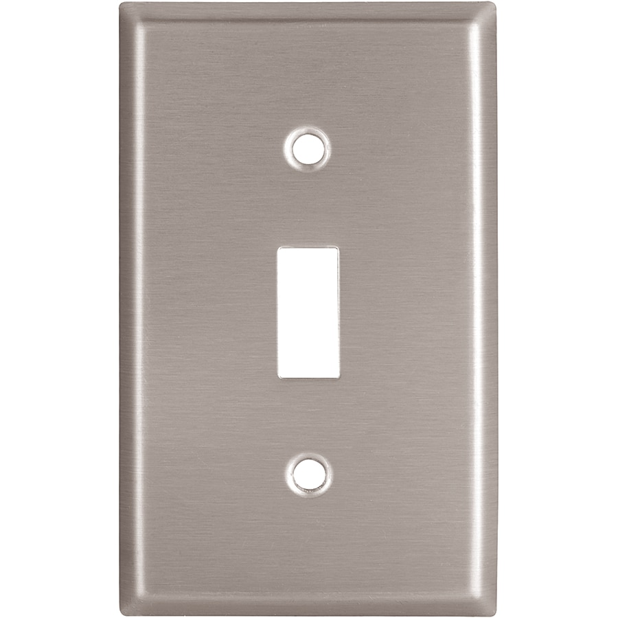 Eaton 1-Gang Stainless Steel Single Toggle Wall Plate