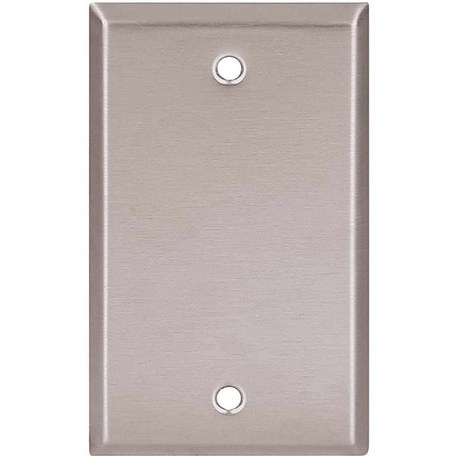 Eaton 1-Gang Stainless Steel Single Blank Wall Plate