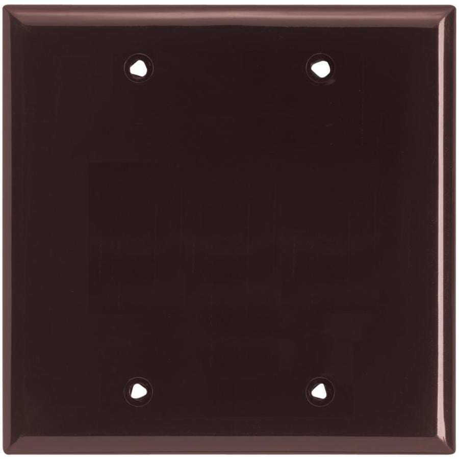 Eaton 2-Gang Brown Single Blank Wall Plate