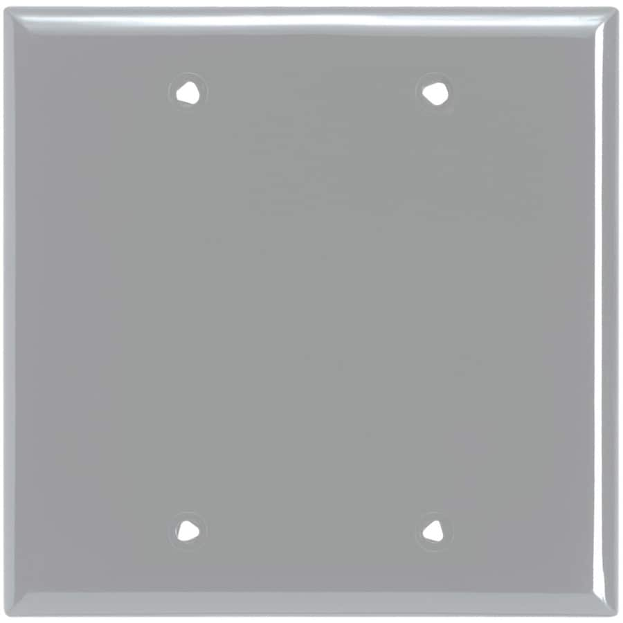 Eaton 2-Gang Gray Single Blank Wall Plate