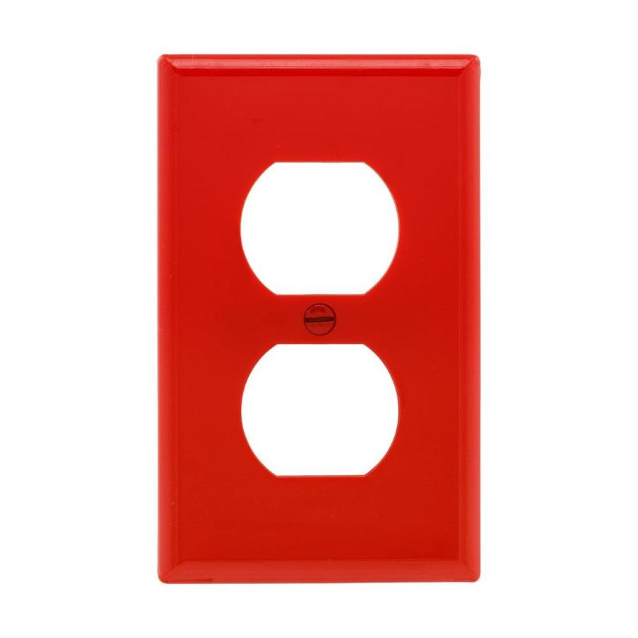 Eaton 1-Gang Red Round Wall Plate