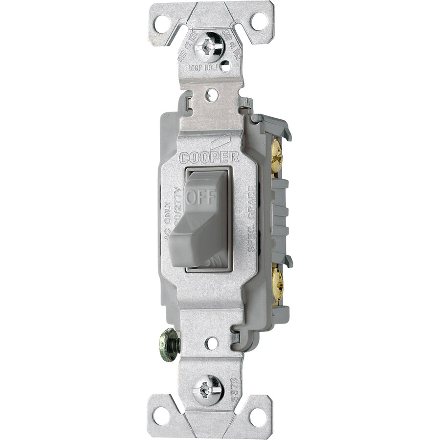 Cooper Wiring Devices Single Pole Gray Light Switch